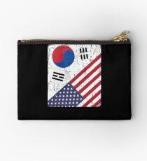 South Korea Flag Korean American Apparel Studio Pouch