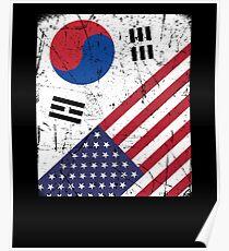 South Korea Flag Korean American Apparel Poster