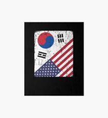 South Korea Flag Korean American Apparel Art Board