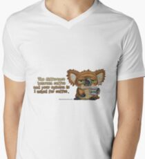 Drop Bear Coffee Opinion Men's V-Neck T-Shirt