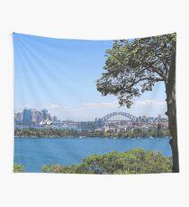 Sydney City Under Blue Sky Wall Tapestry
