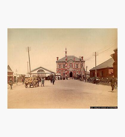 English harbor at Yokohama Photographic Print