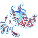 Paisley Peace Dove  by elee