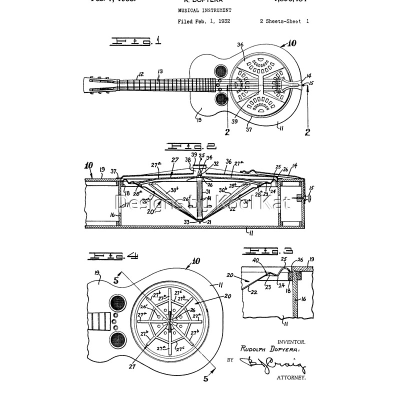 Resonator Guitar Patent