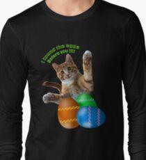 Ostern Katze Langarmshirt