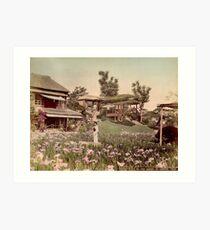 Iris garden at Horikiri, Japan Art Print