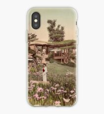 Iris garden at Horikiri, Japan iPhone Case