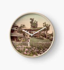 Iris garden at Horikiri, Japan Clock