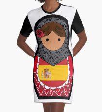 Spanish Matryoshka  Graphic T-Shirt Dress