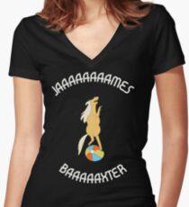 Jaaaaaaaames Baaaaxter Women's Fitted V-Neck T-Shirt