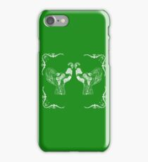 Le Rooster in Green iPhone Case/Skin