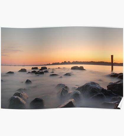 Stonington Sunset Poster