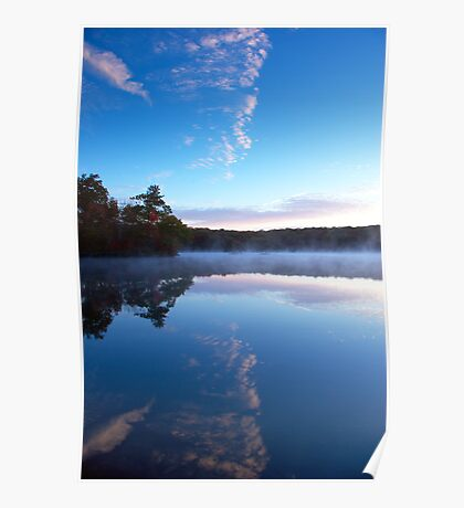 Green Falls Pond Sunrise Poster