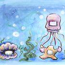 Squid and Starfish by bahgoesthesheep