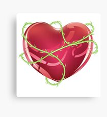 Red Heart with Thorns Canvas Print