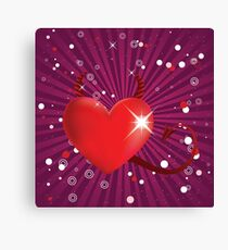 Shiny devil heart Canvas Print