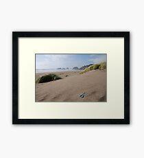Canon Beach Shovel Framed Print