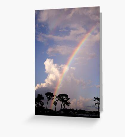 Rainbow & Rain Greeting Card