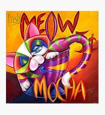 Meow Mocha! Photographic Print