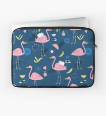 Pink flamingos & white cats Laptop Sleeve