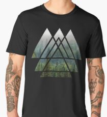 Sacred Geometry Triangles - Misty Forest Men's Premium T-Shirt
