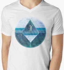 Camiseta para hombre de cuello en v Waterception