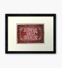 Big lebowski Carpet Framed Print