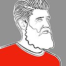 Bearded Man In A Red T-shirt by Adam Regester
