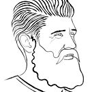 Bearded Man Line Portrait by Adam Regester