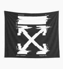 Off-White Arrows Temperature Glitch (Dark) Wall Tapestry