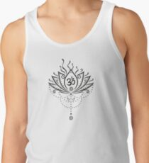 Lotus Blume, Yoga, black version Tank Top
