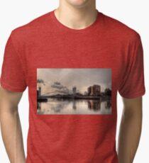 Bridge over Salford Quays, Manchester, UK Tri-blend T-Shirt