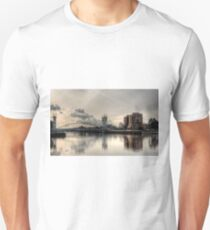 Bridge over Salford Quays, Manchester, UK Slim Fit T-Shirt