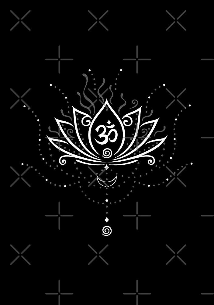 Lotus Blume, Yoga, white version von Christine Krahl