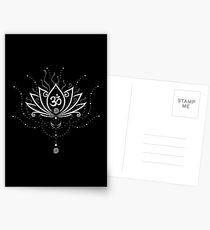 Lotus Blume, Yoga, white version Postkarten