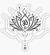 Lotus Blume, Yoga, white version Sticker