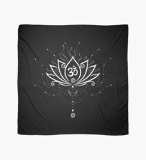 Lotus Blume, Yoga, white version Tuch