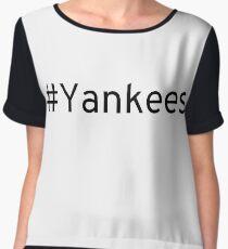 #Yankees Chiffon Top