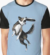 Dog & Frisbee Graphic T-Shirt