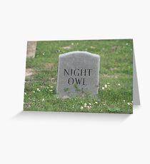 Headstone Greeting Card