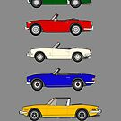Sporting Triumphs (Triumph Sports cars) Classic Car Collection by RJWautographics