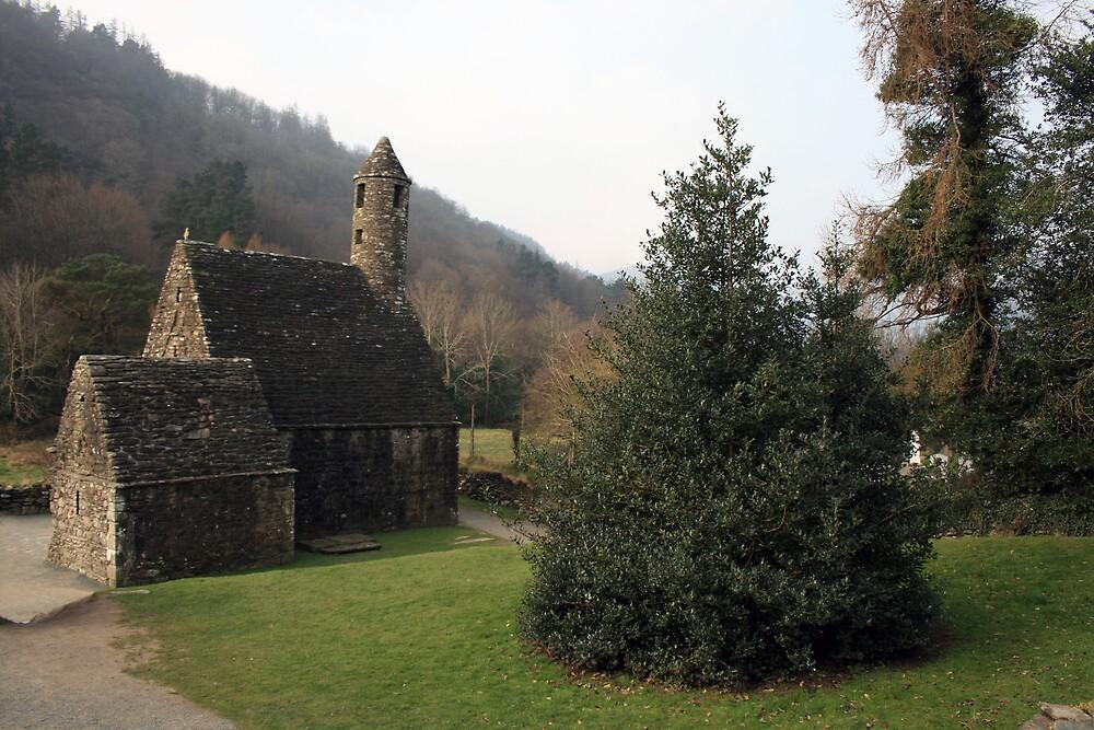St Kevins church Glendalough by John Quinn