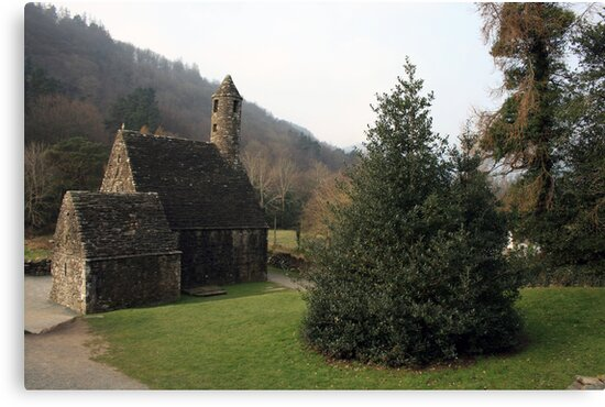 St Kevins church Glendalough by John Quinn