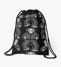 Retro Jason - Gray Vintage Drawstring Bag
