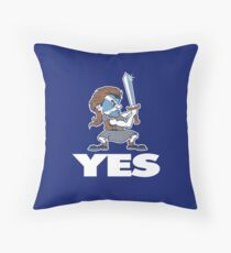 Scotland Independence - YES !!! Throw Pillow