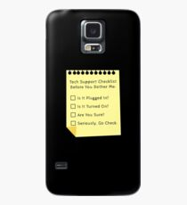 Tech Support Checklist Funny Helpdesk IT Engineer Case/Skin For Samsung  Galaxy