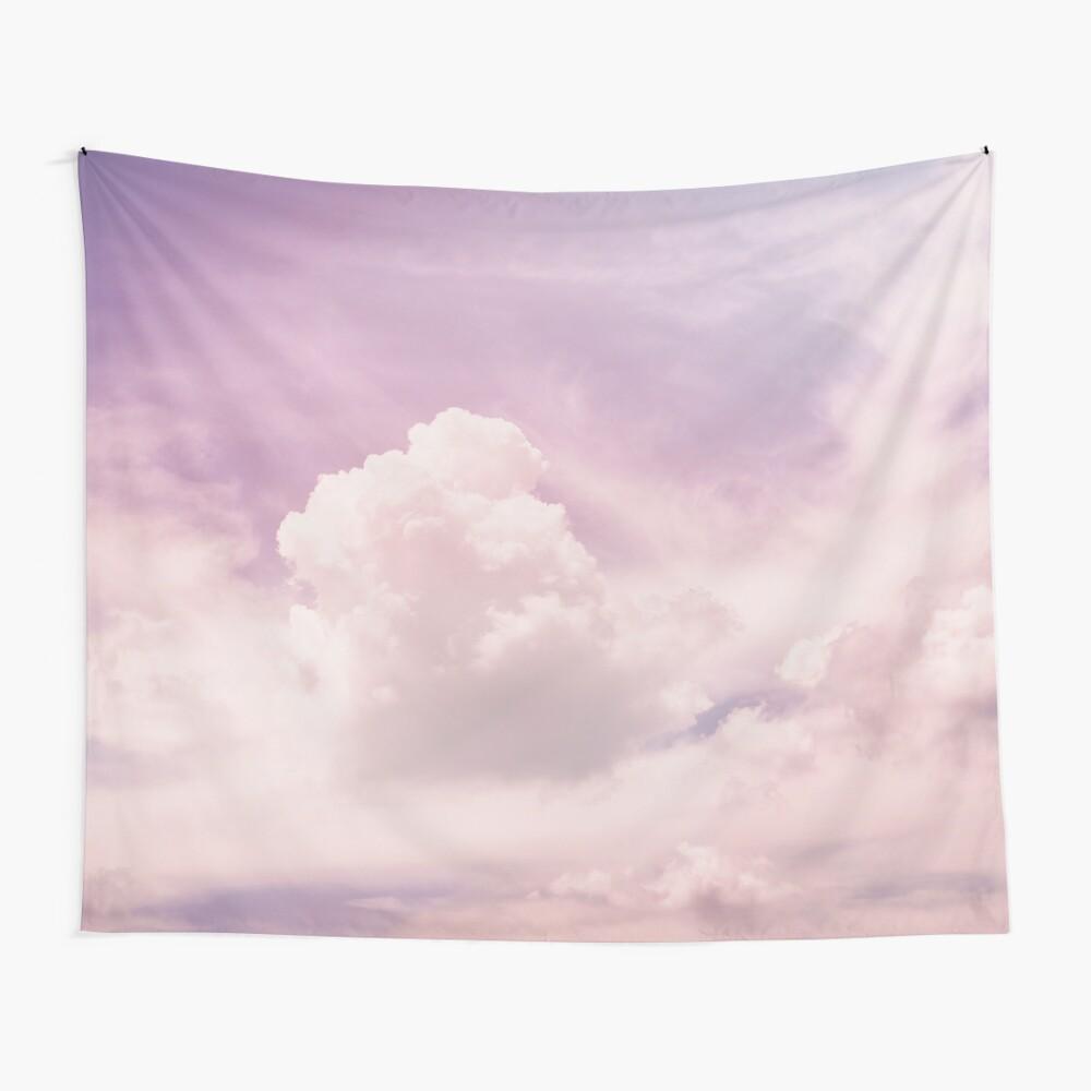 Rosa flauschige Wolken Wandbehang