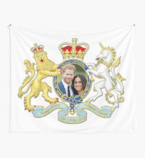 Prince Harry and Meghan Markle Wall Tapestry