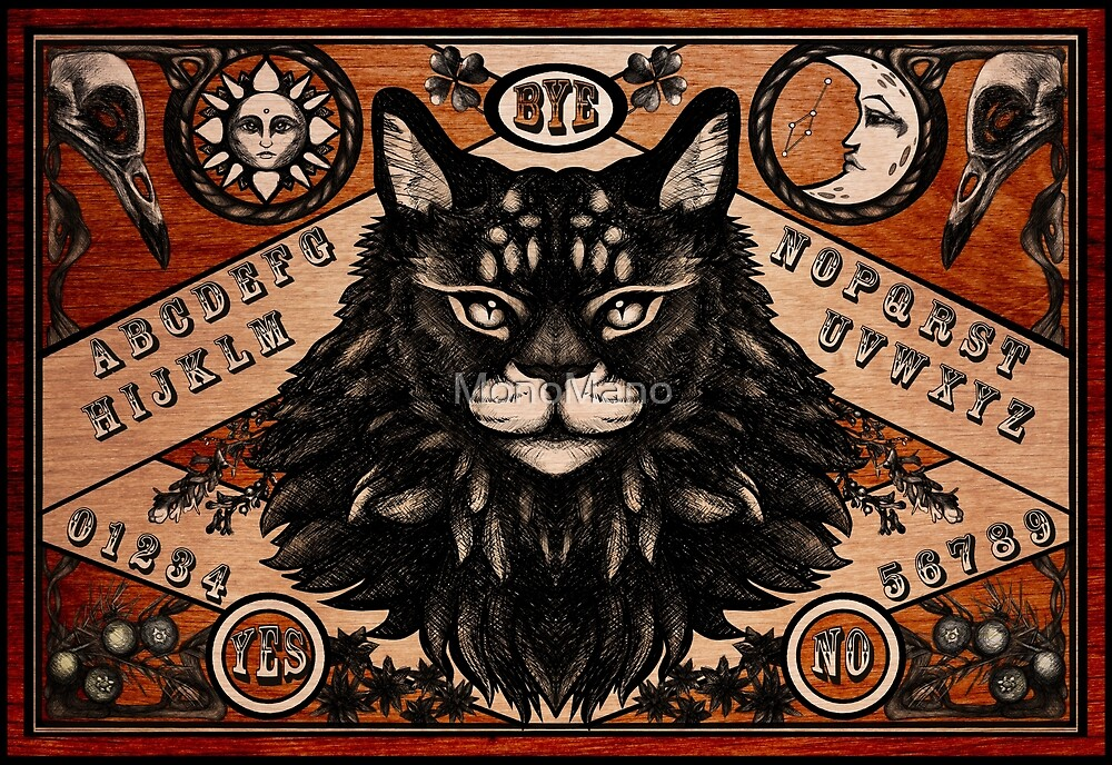Ouija Board - Maine Coon edition by MonoMano