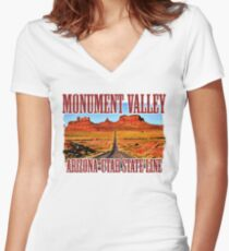 Monument Valley Women's Fitted V-Neck T-Shirt